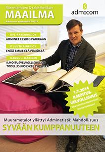 Rakentamisen & talotekniikan Maailma 1/2014 - kansi