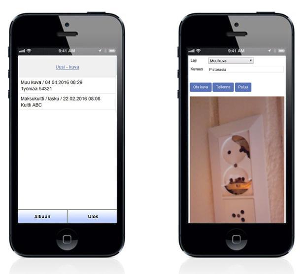 Adminet mobiili - Kameratoiminto - Admicom asiakaslehti