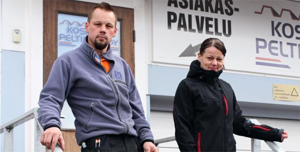 Vantaan Peltisepät Oy - Koskisen Peltikate Oy - Esa ja Hely Koskinen - Admicom asiakaslehti