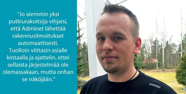 Mika Kaskinen - Savonlinnan Saneerauspalvelu Oy - Admicom asiakaslehti