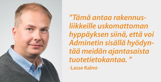 Lasse Kalmi STARK - Admicom asiakaslehti