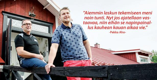 Rakennushuolto Vilho Aho Ky - Pekka ja Aleksi - Admicom asiakaslehti