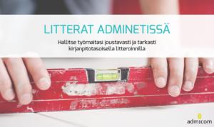 Litterointi rakennusala - Litterat Adminetissä - Esitteen kansikuva