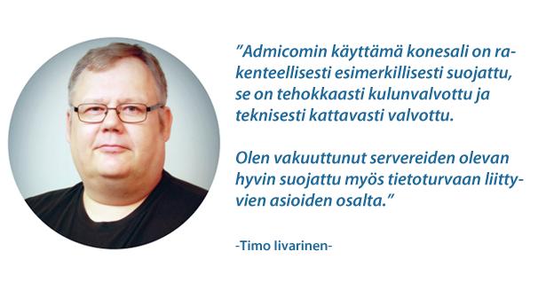 Lesec Oy - Timo Iivarinen - Admicom asiakaslehti