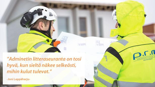 Rakennustoimisto PRM Oy - Admicom asiakaslehti