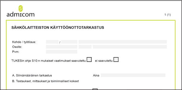 Sähköiset lomakkeet - Admicom asiakaslehti