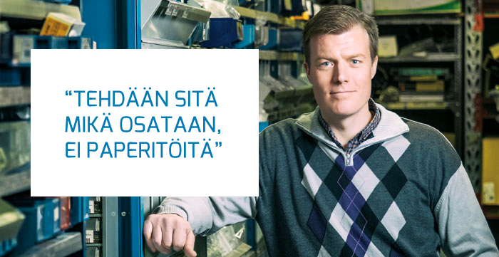Telilän Sähkötyö - Sähkö-Sinssi - Pekka Telilä - Admicom asiakaslehti