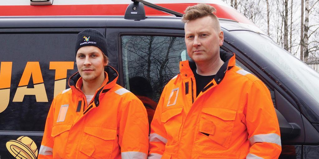 Kaapelipojat Oy - Juho Sulosaari ja Juha Tuominen