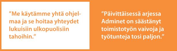Kaapelipojat Oy - Adminet toiminnanohjausjärjestelmä