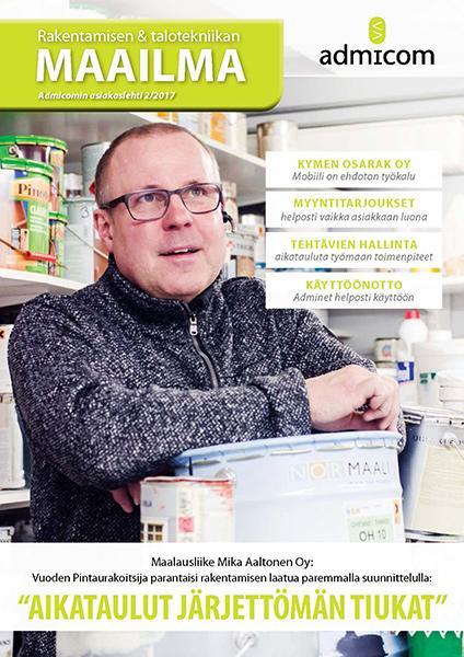 Rakentamisen & talotekniikan Maailma 2/2017 - kansi