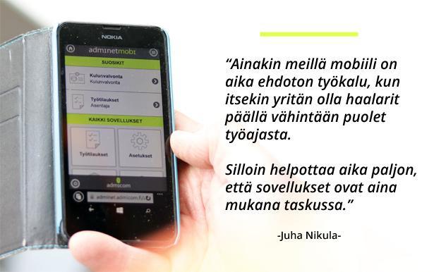 Rakennusala mobiili - Kymen Osarak Oy - Admicom asiakaslehti