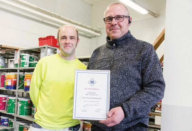 Vuoden Pintaurakoitsija 2017 - Maalausliike Mika Aaltonen - Admicom asiakaslehti