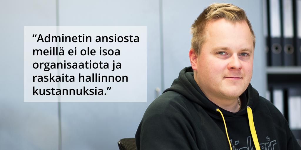 Karhu Sähkö Oy - Jani Hakkinen - Admicom asiakaslehti
