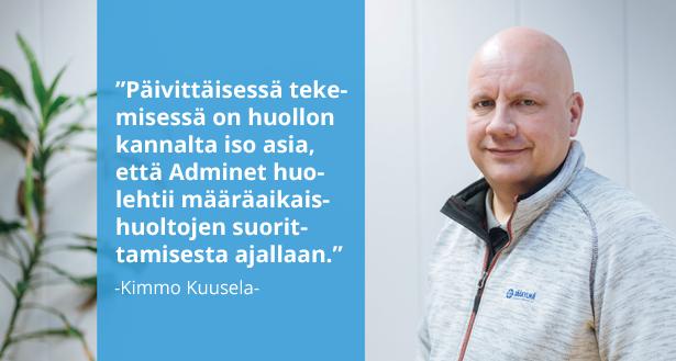 Suomen Jääkylmä Oy - Kimmo Kuusela - Admicom asiakaslehti