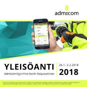 Admicom Oyj - Markkinointiesite web - kansi