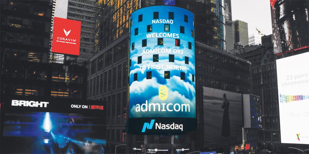 Admicom Oyj - Nasdaq First North - Times Square