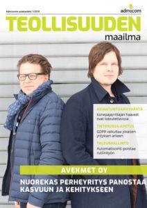 Admicom - Teollisuuden Maailma 1/2018 - kansi