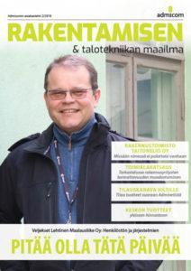 Admicom - Rakentamisen & talotekniikan Maailma 2/2018 - kansi