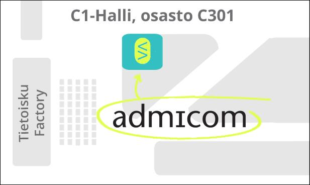 Osastokartta Admicom Finland - Smart Factory
