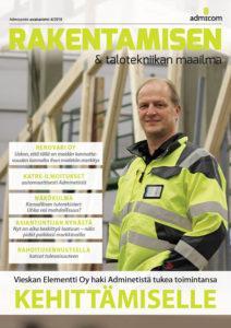 Rakentamisen & talotekniikan Maailma 4/2018 - kansi | Admicom