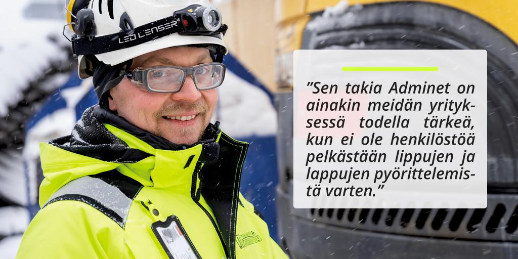 Maansiirtoliike Manninen Oy - Adminet kokemuksia - Rakentamisen toiminnanohjausjärjestelmä