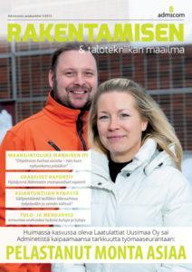 Rakentamisen & Talotekniikan Maailma 1/2019 - kansi | Admicom