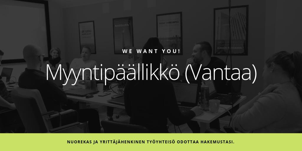 Avoin työpaikka: Myyntipäällikkö Vantaa - Admicom Finland Oy