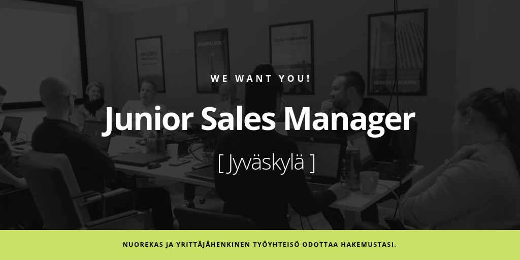 Junior Sales Manager | Admicom - Avoimet työpaikat