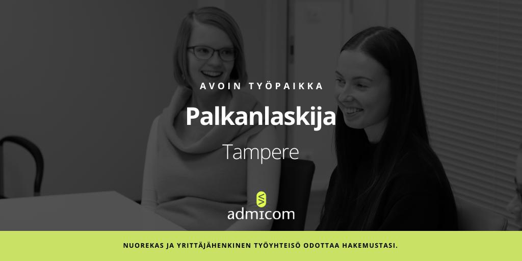 Avoin työpaikka: Palkanlaskija - Tampere   Admicom
