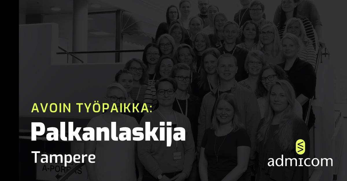 Avoin työpaikka - Palkanlaskija Tampere 11/2020 - Admicom