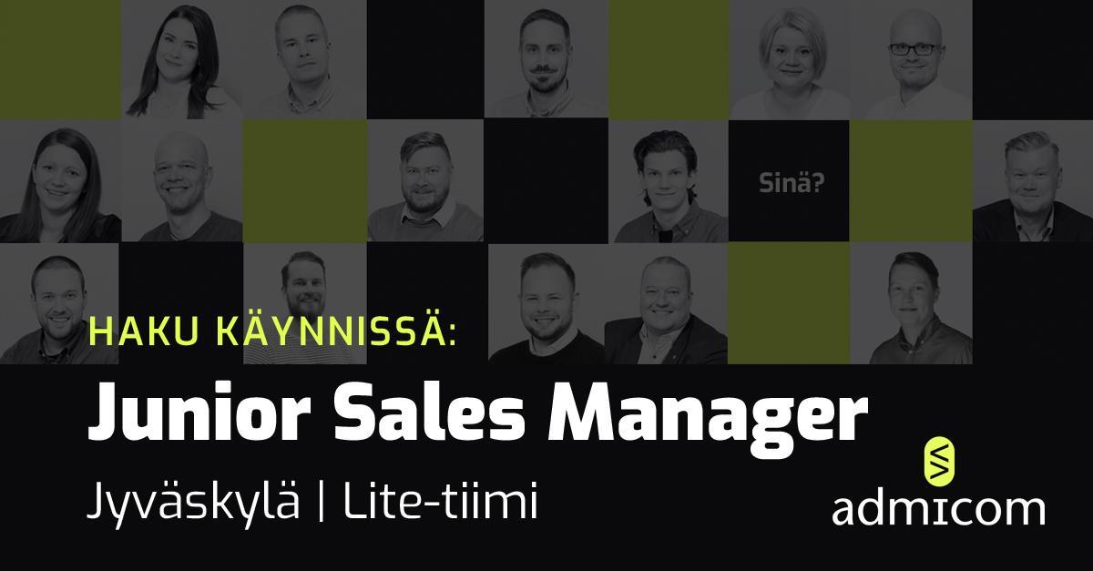 Avoin työpaikka: Junior Sales Manager, Jyväskylä - Adminet Lite-tiimi | Admicom Finland Oy