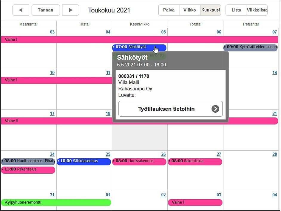 Kalenteri - talotekniikka-rakentaminen-teollisuus - Adminet